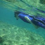 Colson underwater.